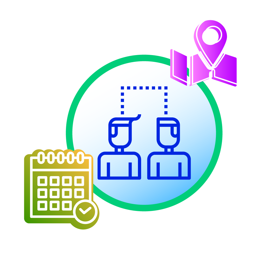 UbiTec - servicio gps - personas con calendario