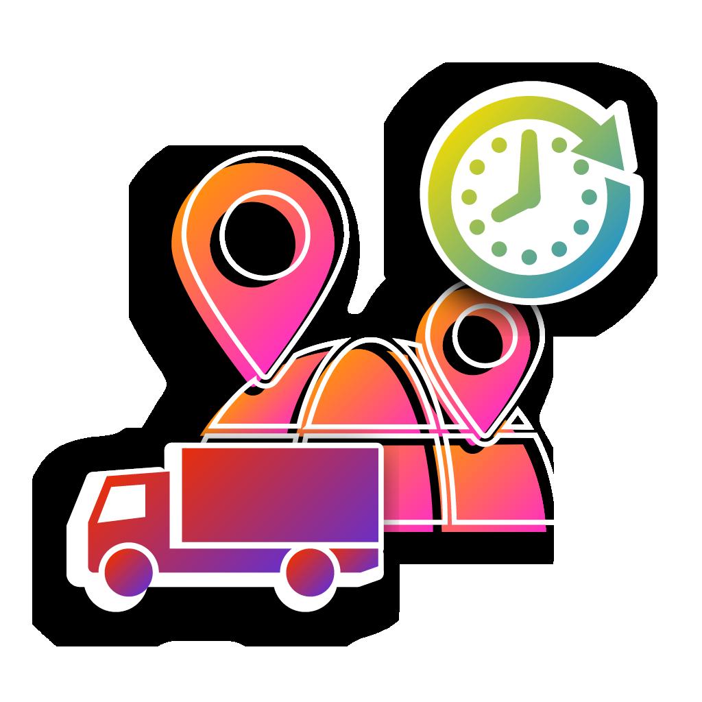 UbiTec - servicio gps - camion con un reloj